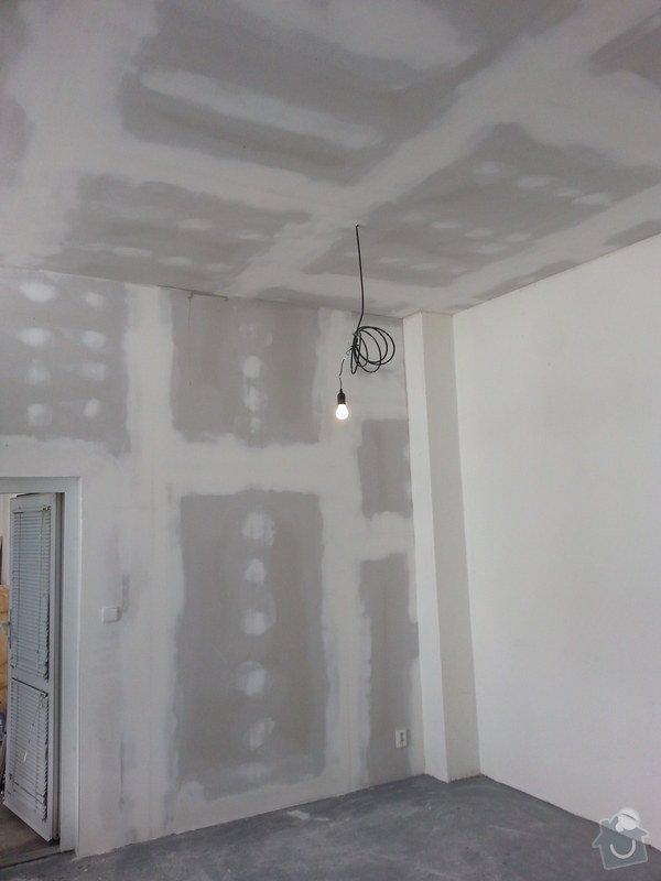 Podhledy s izolací, stěny a elektro: 20140719_105239