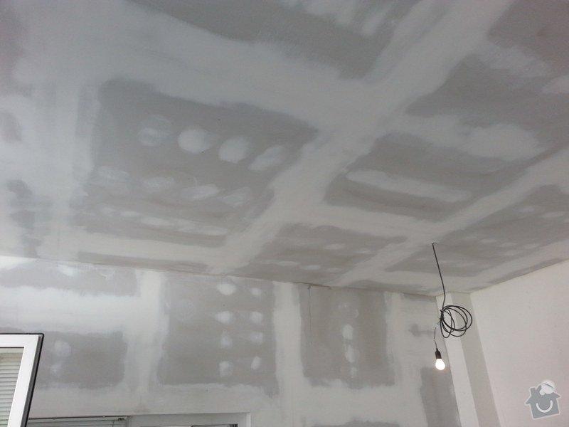 Podhledy s izolací, stěny a elektro: 20140719_105037