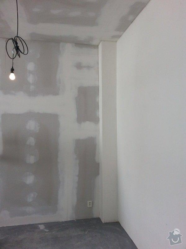 Podhledy s izolací, stěny a elektro: 20140719_105044