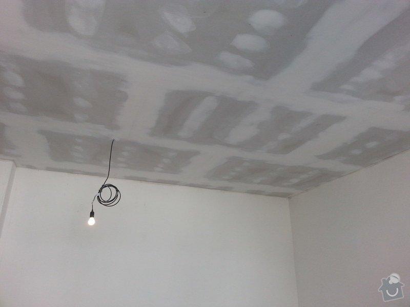 Podhledy s izolací, stěny a elektro: 20140719_105110