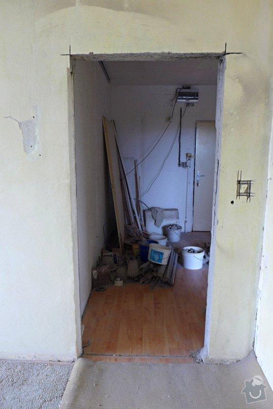 Výřez 2 ks zárubní / úprava stavebního otvoru v panelu pro nové dveře.: Dvere_obyvak_after