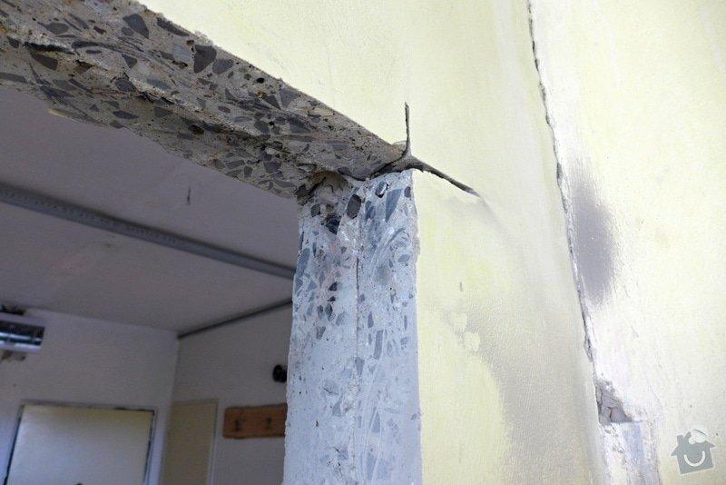 Výřez 2 ks zárubní / úprava stavebního otvoru v panelu pro nové dveře.: Rez_detail