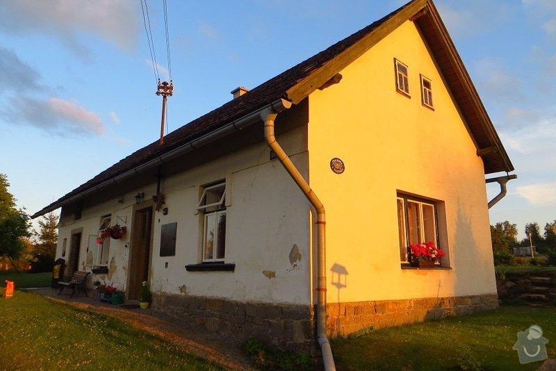 Nahození fasády chalupy v obci Dolní Město: IMG_6577