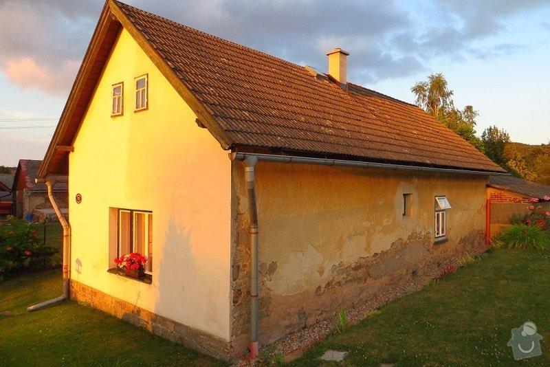 Nahození fasády chalupy v obci Dolní Město: IMG_6579