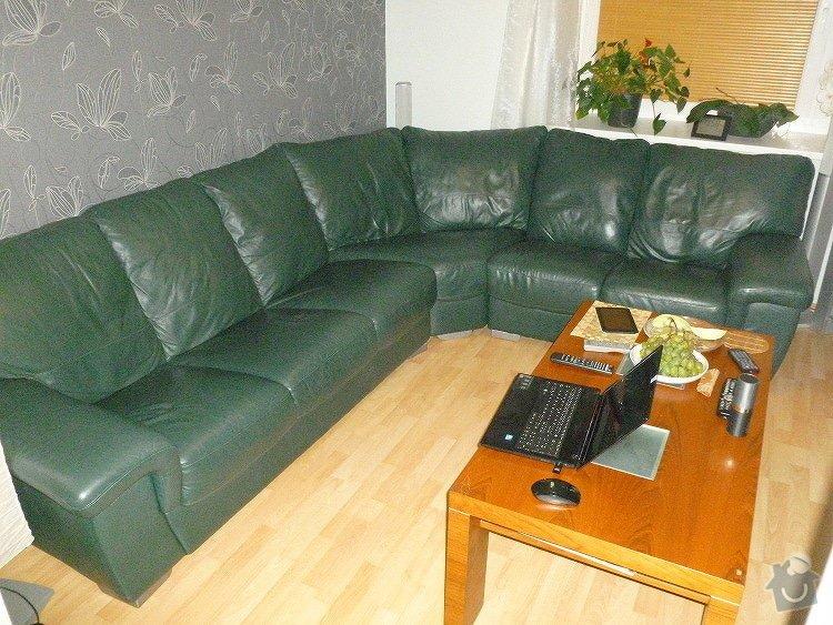 Renovace kožené sedačky - výměna molitanu: P1040010