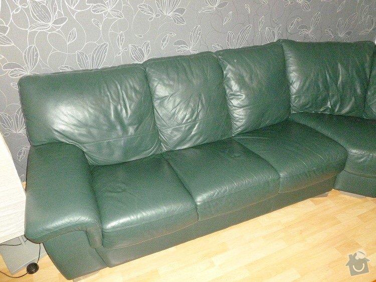 Renovace kožené sedačky - výměna molitanu: P1040011