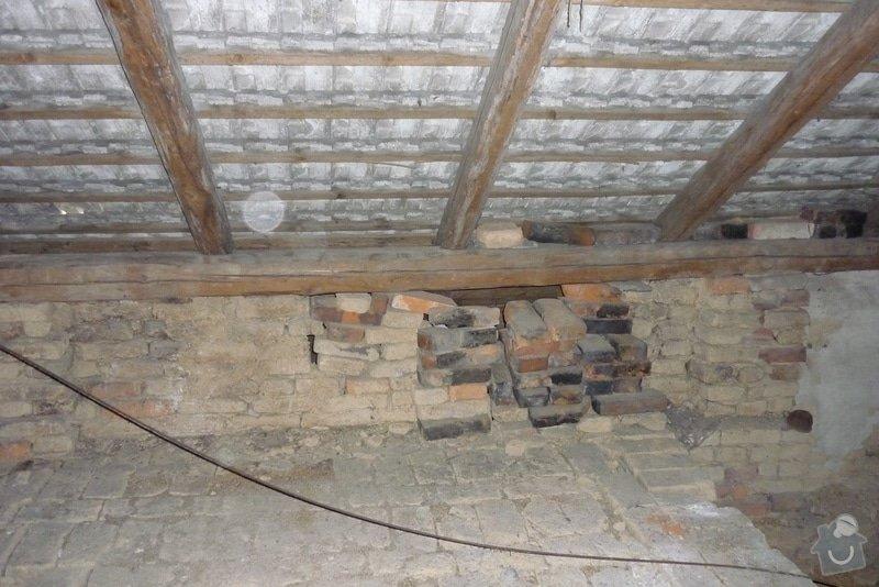 Vyzdění štítů a obvodových zdí v patře RD: P1060946
