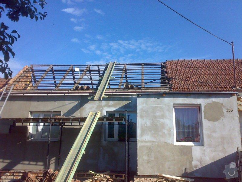 Nacenění rekonstrukce střechy včetně vestavby a věnce.: 16072014336