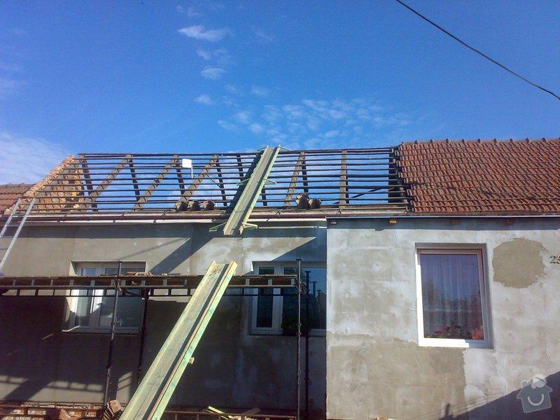 Nacenění rekonstrukce střechy včetně vestavby a věnce.: 16072014337