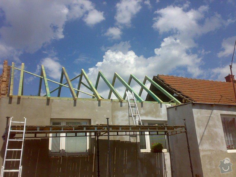 Nacenění rekonstrukce střechy včetně vestavby a věnce.: 16072014338