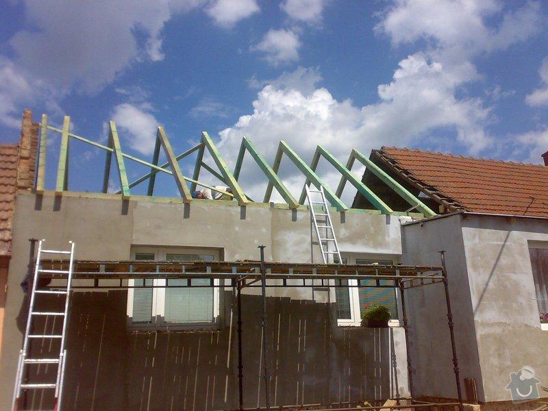 Nacenění rekonstrukce střechy včetně vestavby a věnce.: 16072014339