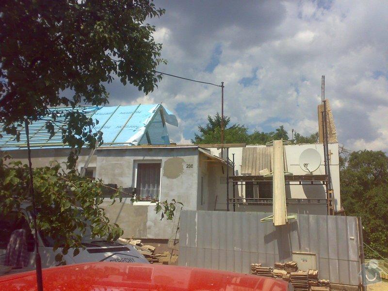 Nacenění rekonstrukce střechy včetně vestavby a věnce.: 17072014343