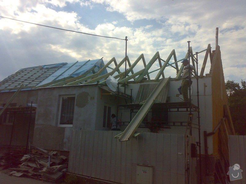 Nacenění rekonstrukce střechy včetně vestavby a věnce.: 17072014344