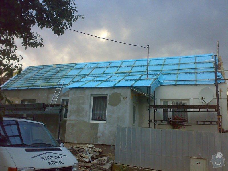 Nacenění rekonstrukce střechy včetně vestavby a věnce.: 17072014345