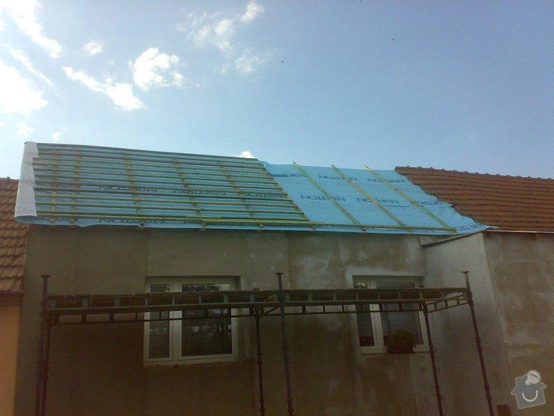 Nacenění rekonstrukce střechy včetně vestavby a věnce.: 16072014341