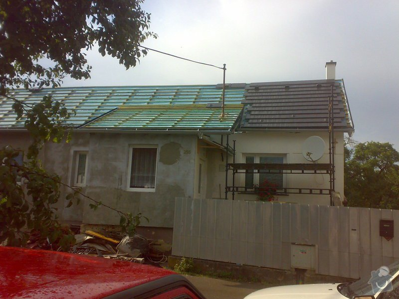 Nacenění rekonstrukce střechy včetně vestavby a věnce.: 25072014347