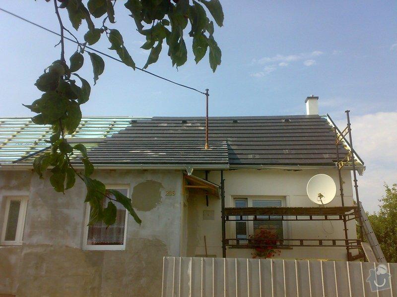 Nacenění rekonstrukce střechy včetně vestavby a věnce.: 28072014349
