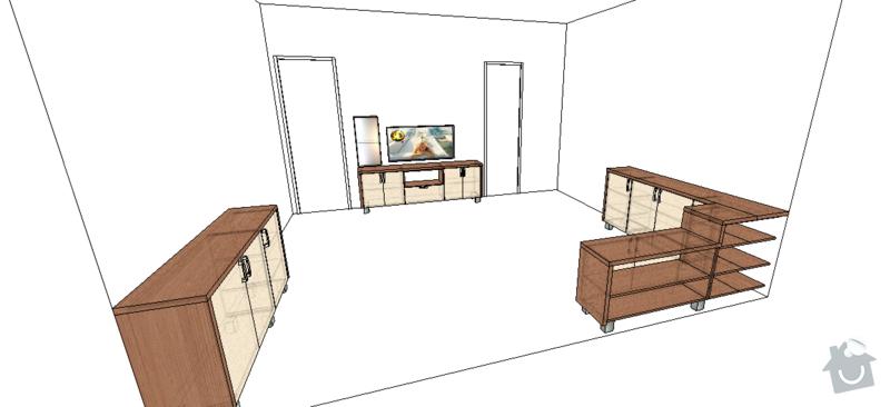 Obývací stěna + ložnice: 5