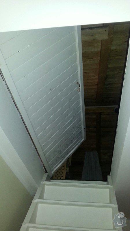 Těsnící (tepelně izolační) dveře na půdů: Dvere_na_pudu