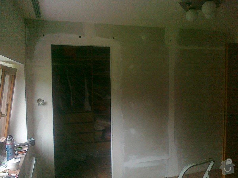 Zhotoveni sadrokartonove pricky s posuvnymi dvermi: 270820141583