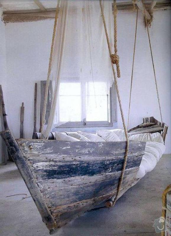 Postel ve tvaru lodi: hanging-bed-768x1062-hanging-boat-bed-moyuc.com