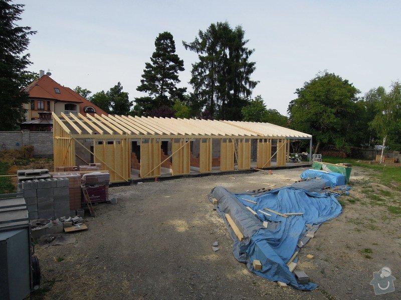 Dodávka a montáž dřevěné konstrukce a krovu rodinného domu : 6