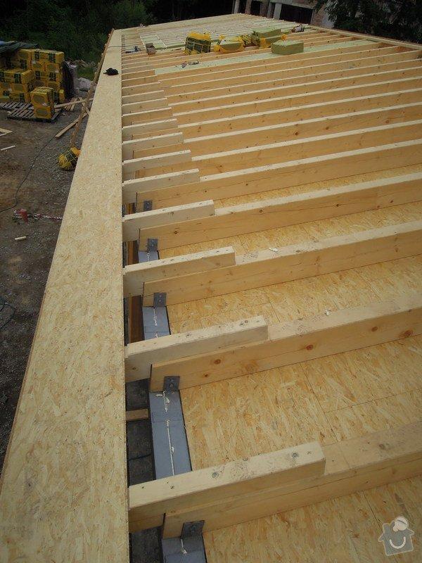 Dodávka a montáž dřevěné konstrukce a krovu rodinného domu : 13