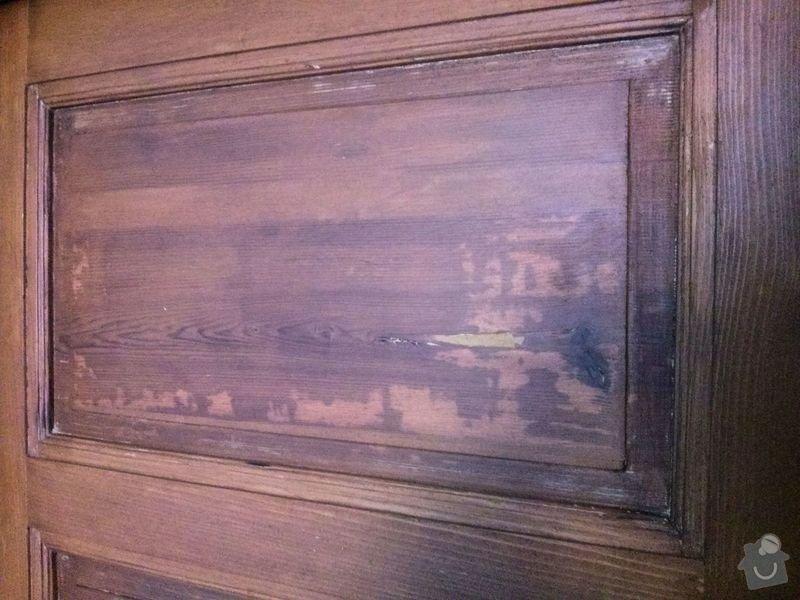 Renovace dveří: fleky