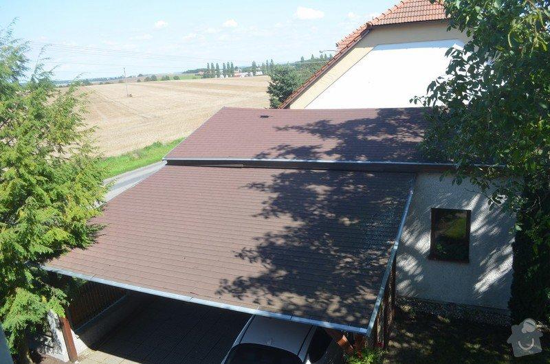 Rekonstrukce střechy nad garáží a přístřeškem pro auta: Mzany_strecha_1