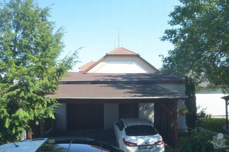 Rekonstrukce střechy nad garáží a přístřeškem pro auta: Mzany_strecha_3