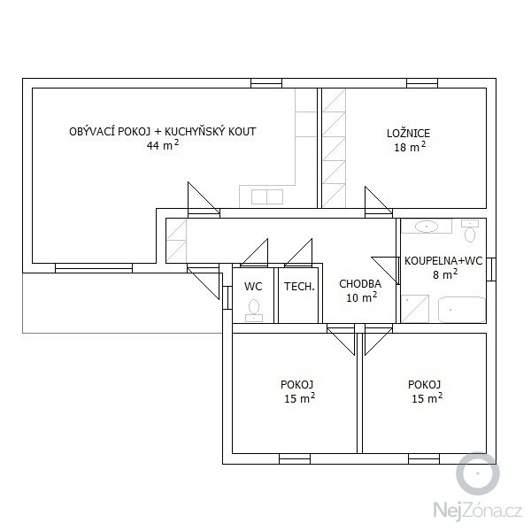 Montovaný dům pro 4 členou rodinu. : moderni-dum-4_KK-pudorys