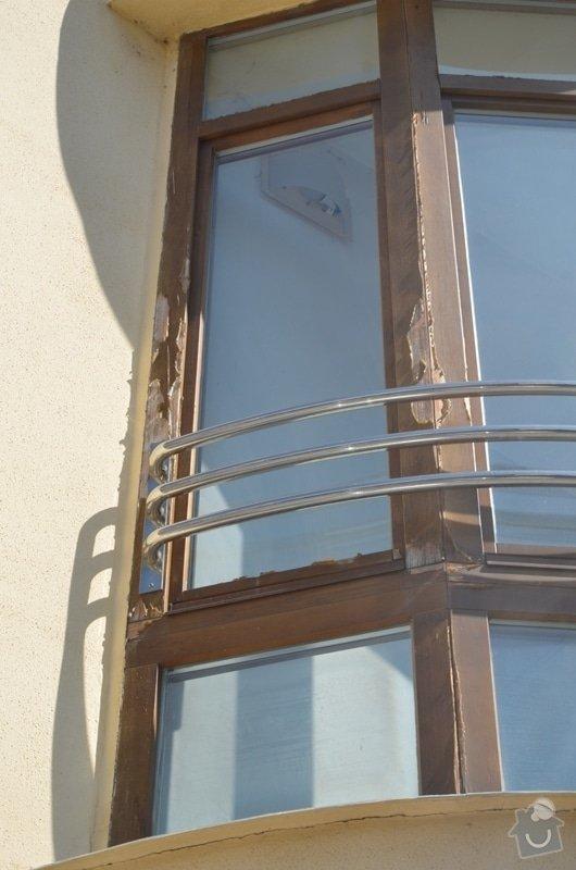 Malířské práce - ošetření dřevěných oken a dveří na administrativní budově Vyškov: DSC_8411