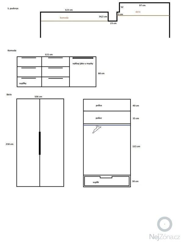 Vestavnou satni skrin a komodu: skrine_-_planek
