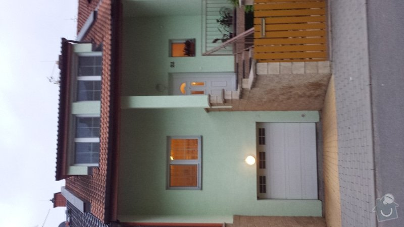 Nátěr venkovních podhledů rodinného domu: 20140903_193257