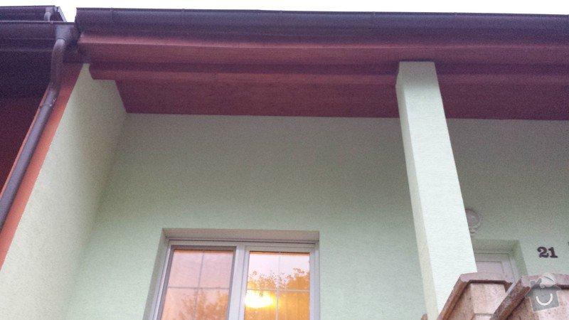 Nátěr venkovních podhledů rodinného domu: 20140903_193321