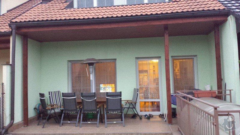 Nátěr venkovních podhledů rodinného domu: 20140903_193430