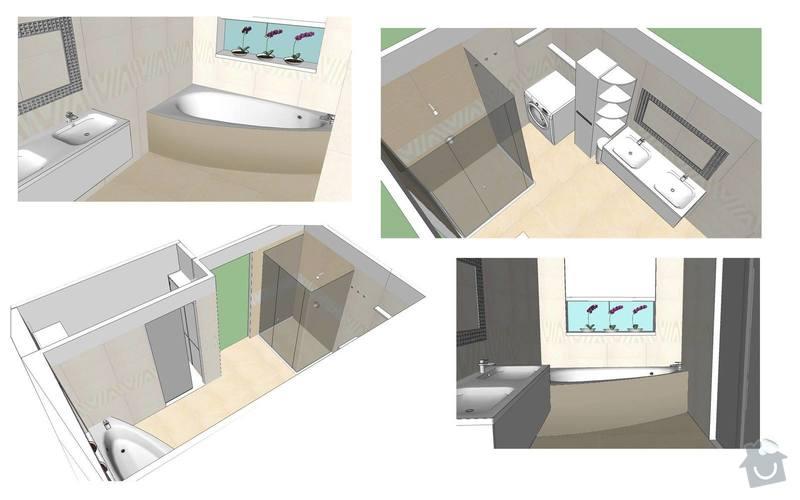 Obklad koupelny a záchodu: koupelna