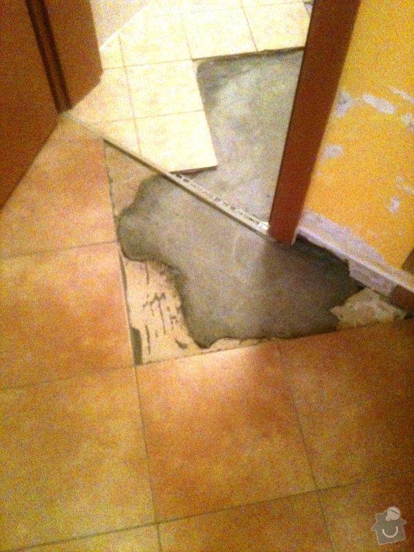 Opravu obkladů a dlažby na WC v bytě 1+kk: Oprava_Dl._Obkl_WC