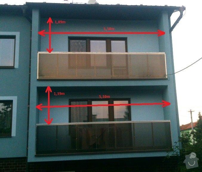 Zasklení balkńů: balkony