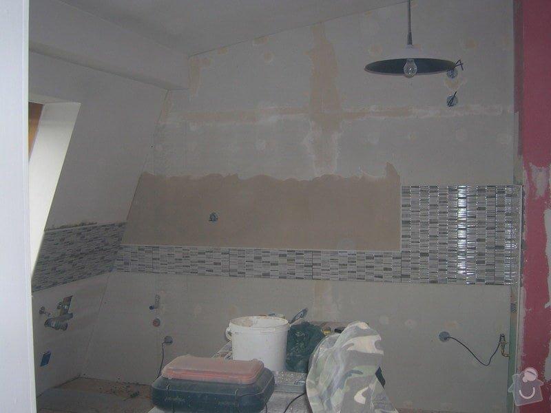 Rozvody vody, elektřiny a plynu pro novou kuchyňskou linku, obklady: DSCN7080