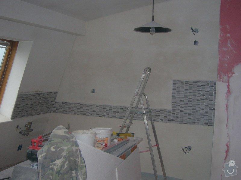 Rozvody vody, elektřiny a plynu pro novou kuchyňskou linku, obklady: DSCN7091