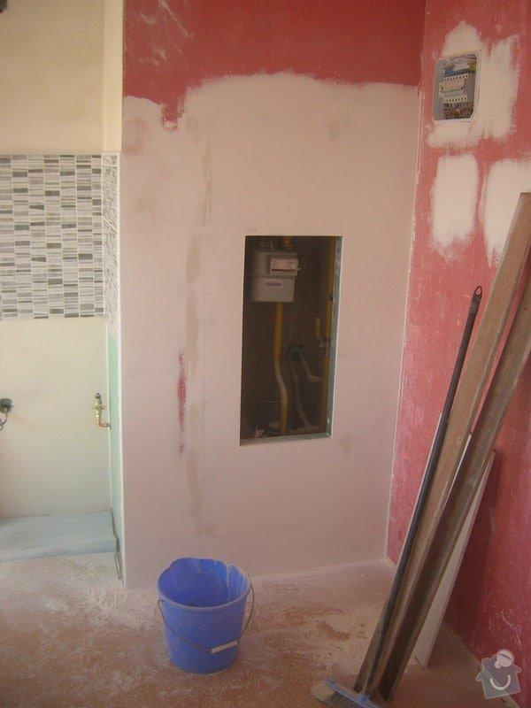 Rozvody vody, elektřiny a plynu pro novou kuchyňskou linku, obklady: DSCN7096