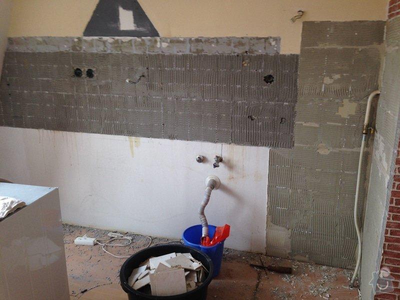 Rozvody vody, elektřiny a plynu pro novou kuchyňskou linku, obklady: image2