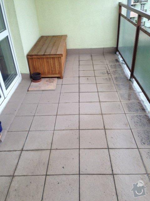 Výměna dlažby na terase: foto-balkon