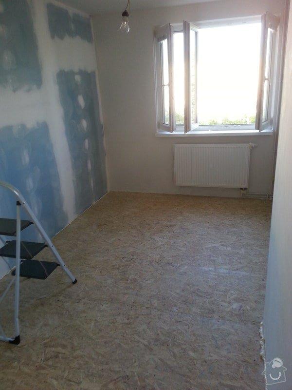 Odhlučnění stěny, nová podlaha, štukování: 20140828_175745
