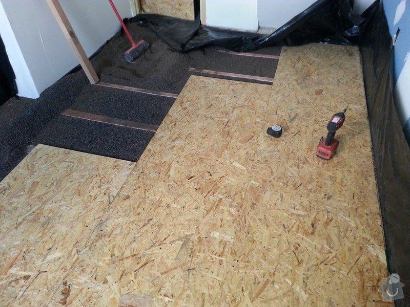 Odhlučnění stěny, nová podlaha, štukování: 20140828_141207