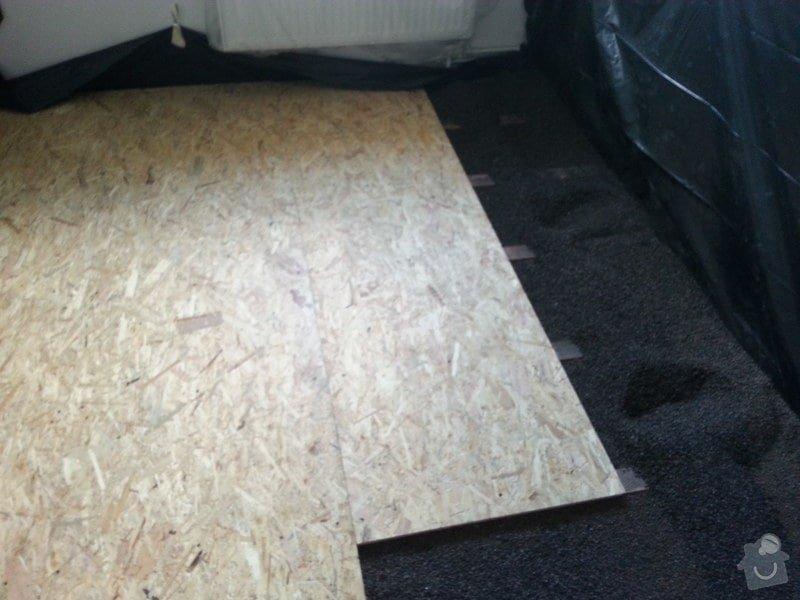 Odhlučnění stěny, nová podlaha, štukování: 20140828_141217