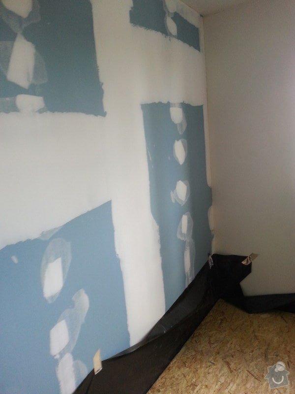 Odhlučnění stěny, nová podlaha, štukování: 20140828_141222