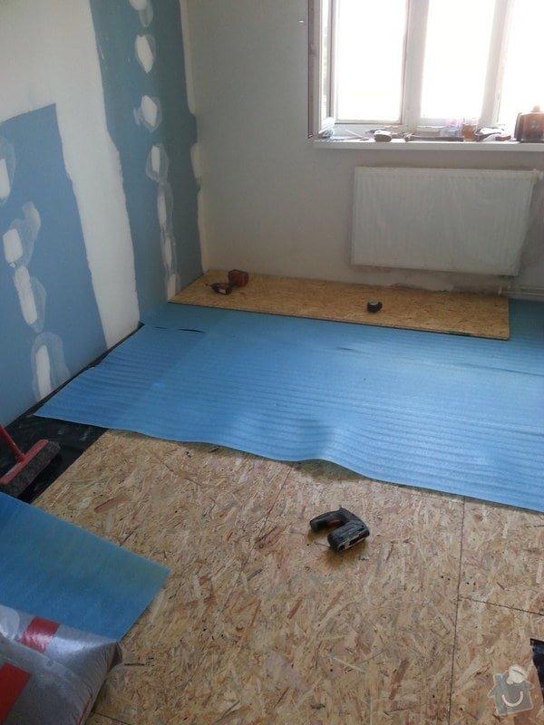 Odhlučnění stěny, nová podlaha, štukování: 20140828_150607