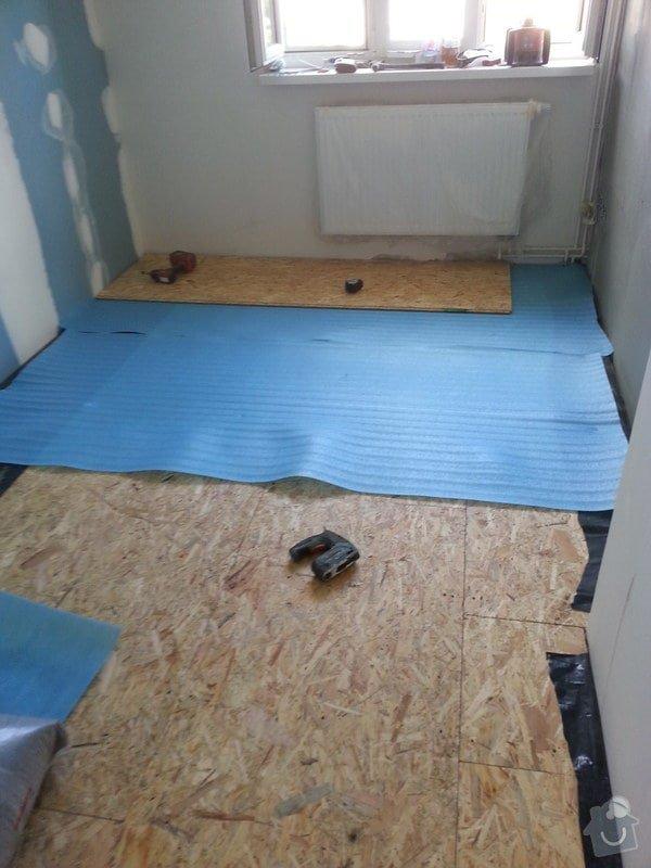 Odhlučnění stěny, nová podlaha, štukování: 20140828_150611